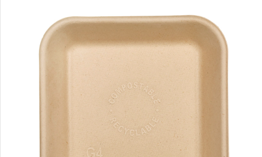 Square bamboo plate - Small