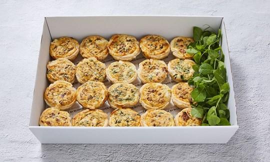 Chorizo & spinach tarts