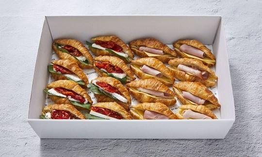 Savoury filled croissants