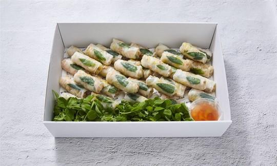 Cocktail chicken rice paper rolls (V/GF/DF)