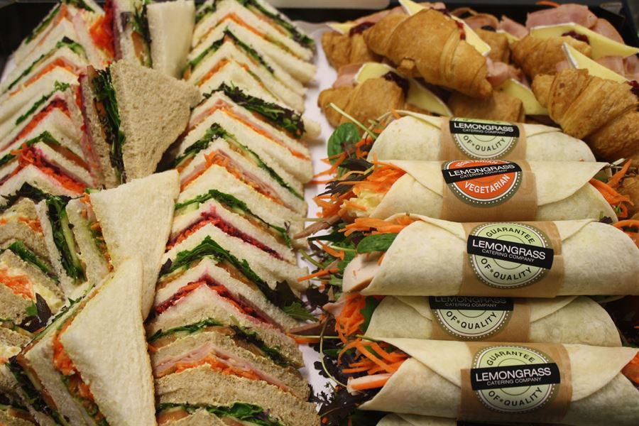 The big mix  -  club sandwich, cocktail wraps, croissant