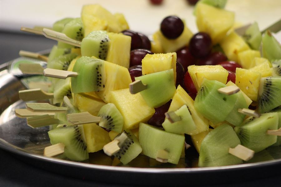Mini fresh fruit kebabs - GF/DF/VEGE/V