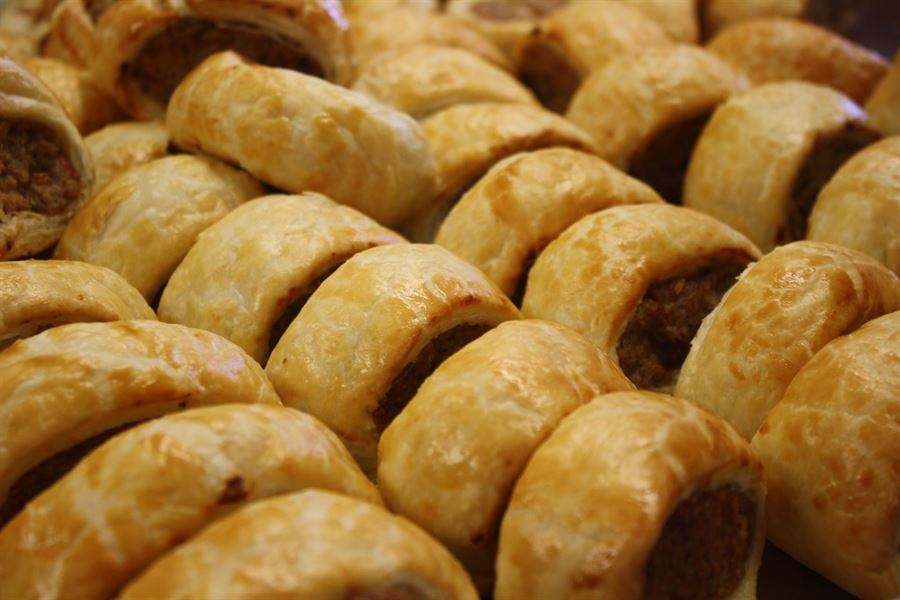 Sage and onion sausage roll