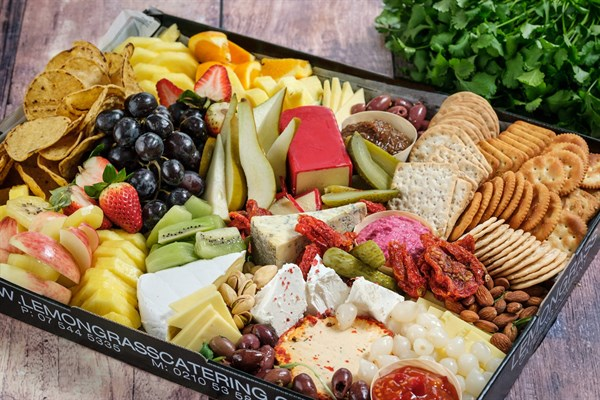 CHEESE, FRUIT AND CRACKER PLATTER (serves 10)