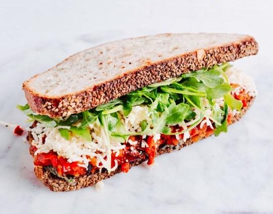 Seasonal Vegetarian Sandwich