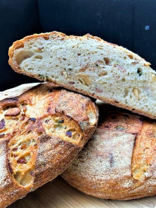 Bacon, Sage & Confit Garlic Sourdough