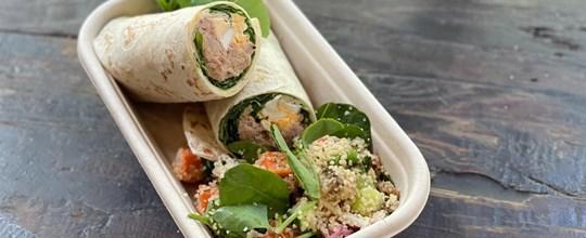 Lunch box (3) - Sandwich & side salad box