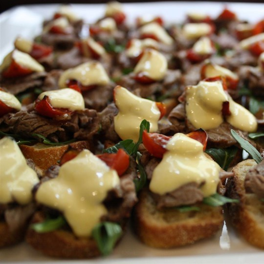 Beef tenderloin w bruschetta & bearnaise