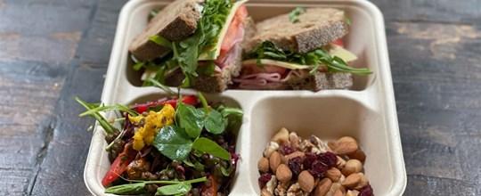 Lunch box  (1) - sourdough sandwich & salad box