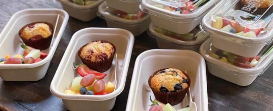 Mini muffin & fruit box