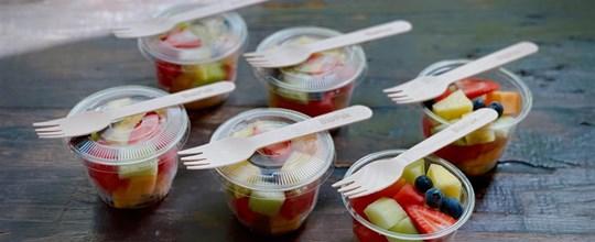Mini fruit salad cup