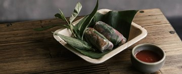 Mock Duck Rice Paper Rolls with Ginger Nuoc Cham (GF, VG) - 2pc