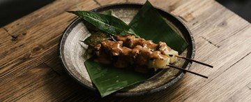 Pineapple and Green Papaya Skewers with Sour Orange Curry (GF, VG) - 2pc