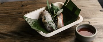 Lemongrass Chicken Rice Paper Rolls with Ginger Nuoc Cham (GF) - 2pc