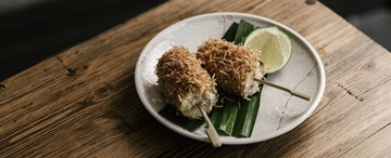 Khao Phot Ping - BBQ Corn with Salted Coconut-Pandan Cream and Lime (GF, VG) - 2pc