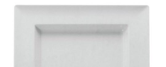 Melamine square bowls 375mm white