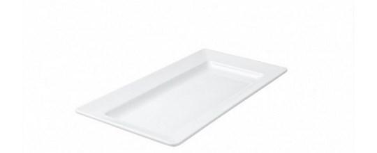 Melamine platters rectangle 440mm x 270mm white