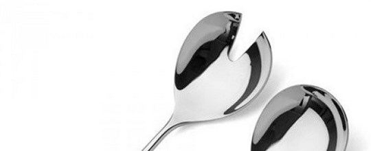 Small serving spoons 230mm pair