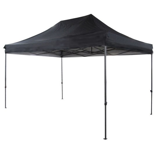 3m x 4.5m black pop up mini marquee. requires 8 weights