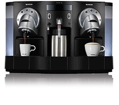 Nespresso commercial 2 group machine with 80 pods