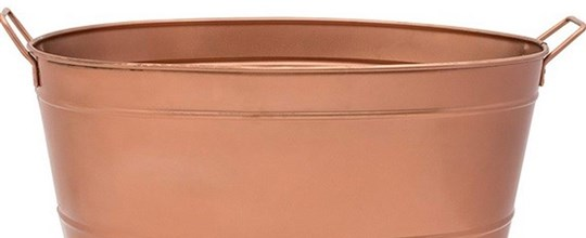 Rose gold ice bucket oval