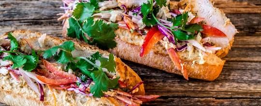 Chicken schnitzel sliders, sriracha mayo & coleslaw