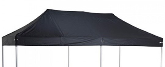 3m x 6m black pop up mini marquee . requires 10 weights