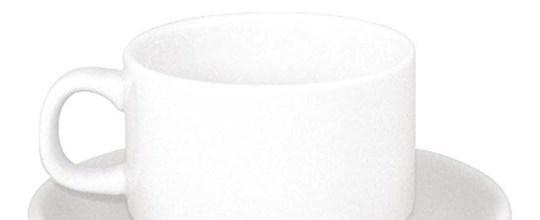 Tea cup & saucier white