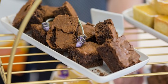 Chocolate brownie platter (30 pieces)