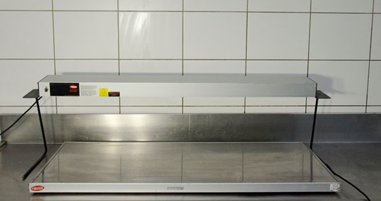 Bain marie dry and lamp hatco, 1200mm l x 400mm w 10 amp power