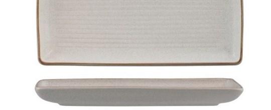 Zuma share plate   entrée or dessert 270mm x 120mm sand & white colours