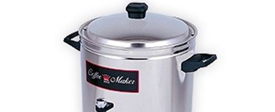 Crown coffee percolator 120 cup, 10 amp