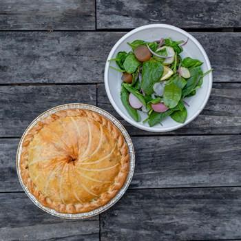 Chicken, Fennel & Spinach Pie