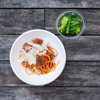 Mini Spaghetti & Meatballs