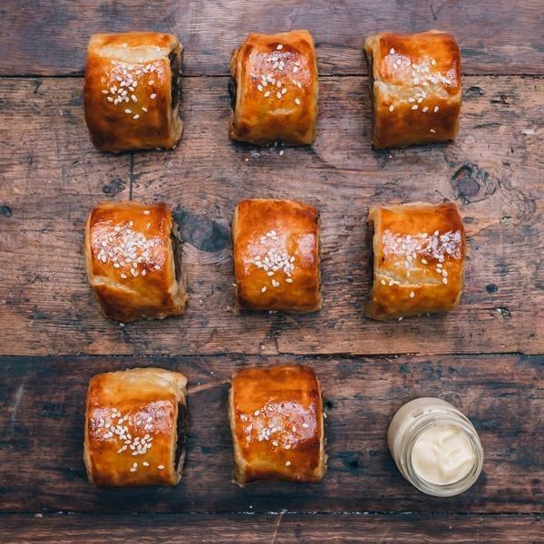 Chicken & Water Chestnut Mini Sausage Rolls