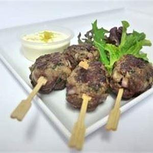 Grilled Beef Kofta with Cumin and Coriander with Lemon Yoghurt (g/f)