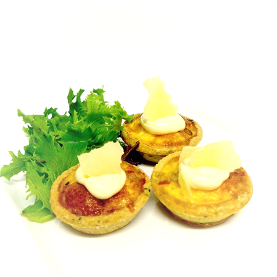 Prosciutto and Parmesan Tartlet (min 15)