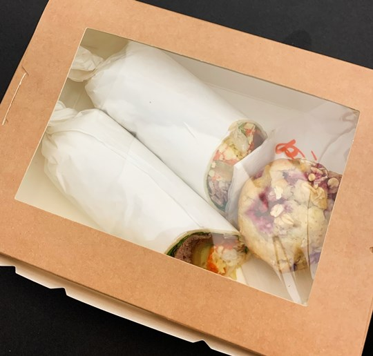 Gourmet Wrap & Medium Sweet Muffin