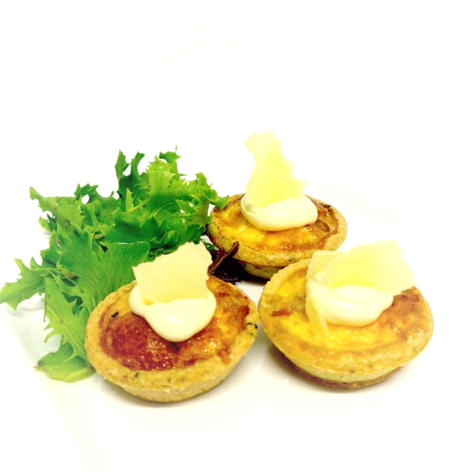 Prosciutto and Parmesan Tartlet (min 10)