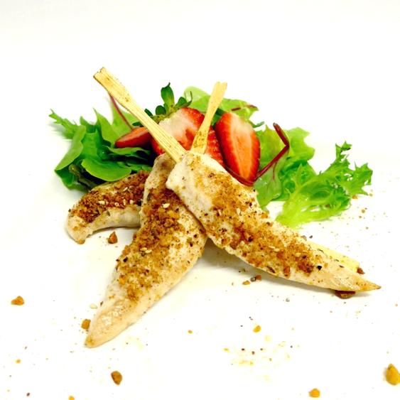 Pistachio Dukka crusted Chicken Tenderloin (g/f) (min 10)