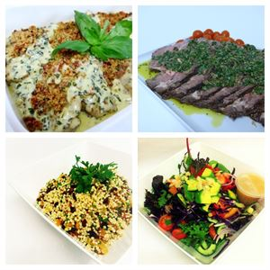 Hot Lunch/Dinner Buffet Style #1 - 2 Hot Choices with salads (min 10)