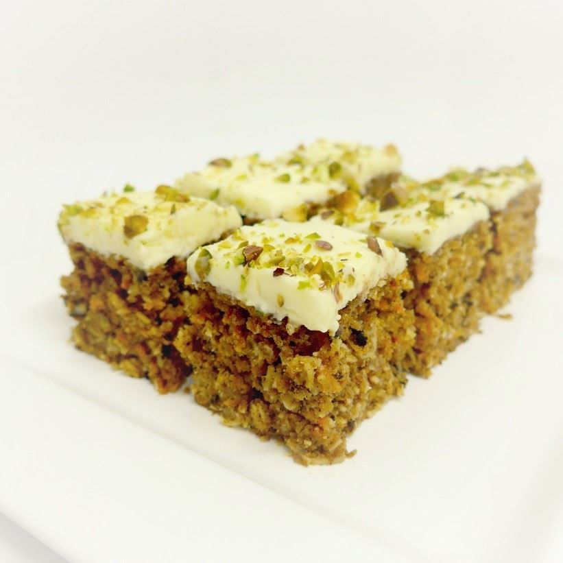 Traditional Carrot Cake Squares (min 10)