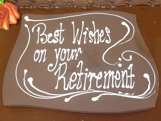 Cake Decoration - Chocolate writing on plaque