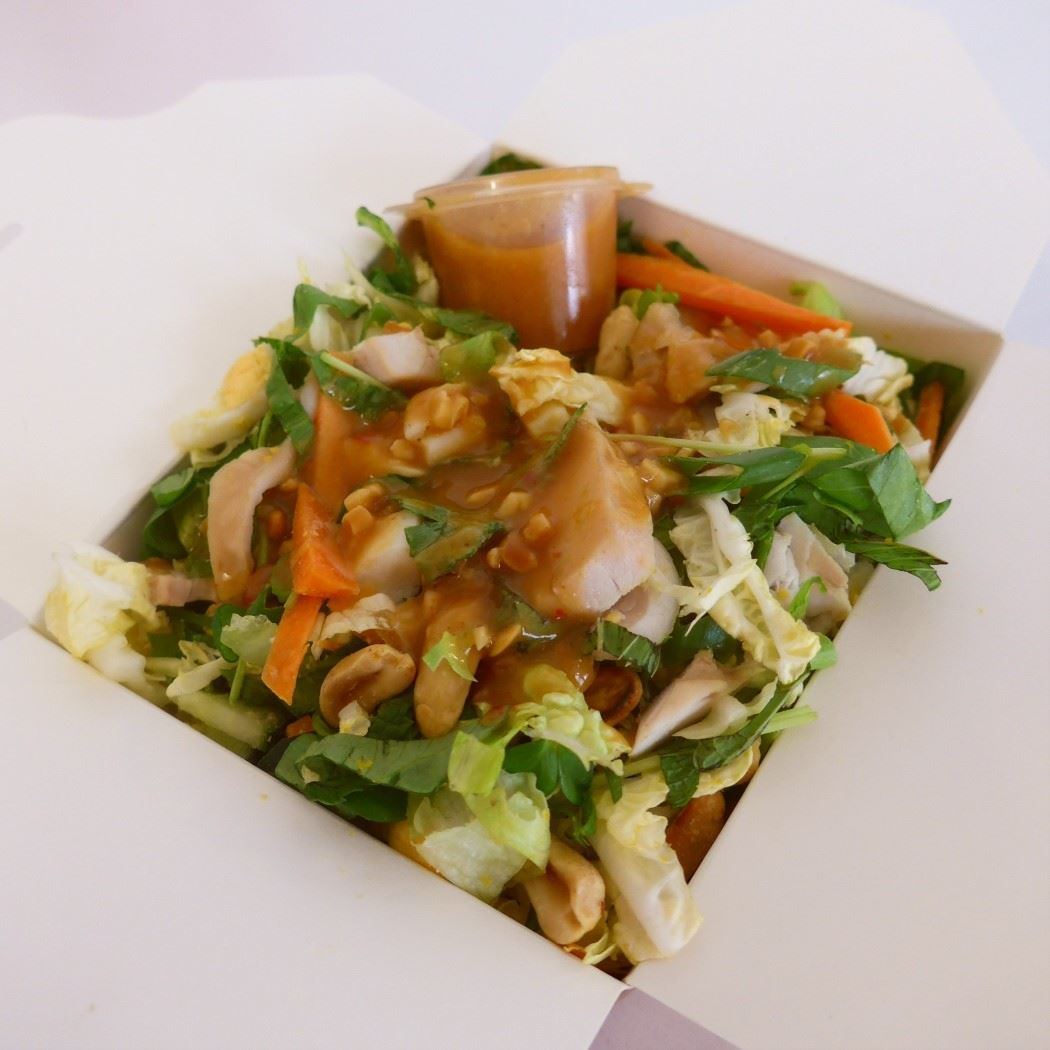 Noodle Box - Asian, Chicken, Egg Salad with Peanut Dressing (g/f,d/f)