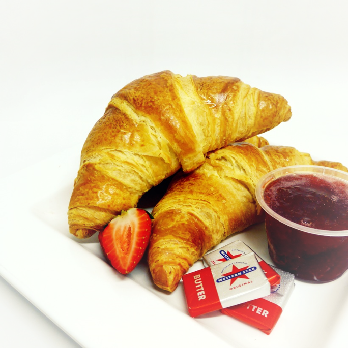 Breakfast Croissant served with house-made jam and butter