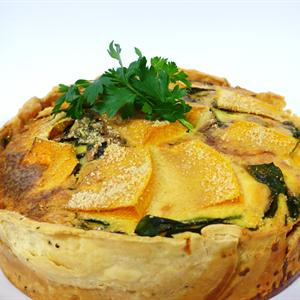 Roast Pumpkin, Spinach & Blue Cheese Tart (v) (26cm)