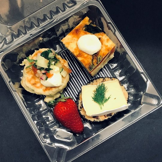 Canapes (COLD) - 3 items  - INDIVIDUALLY PACKAGED