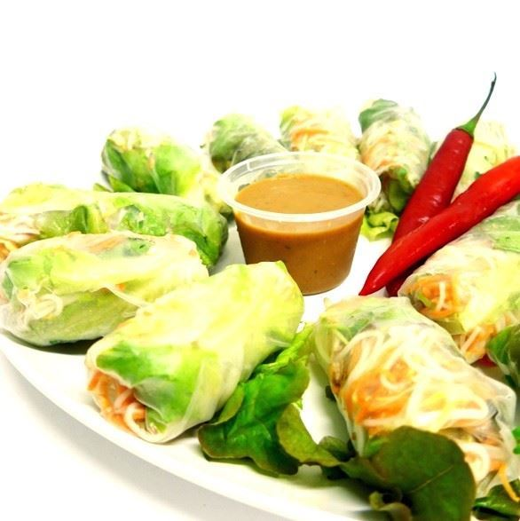 Chicken rice paper roll - Asian veg, mint & coriander (g/f, d/f)