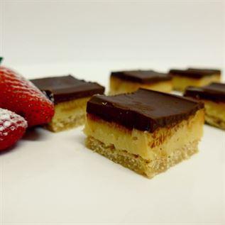 Double chocolate caramel slice (g/f) (min 10)