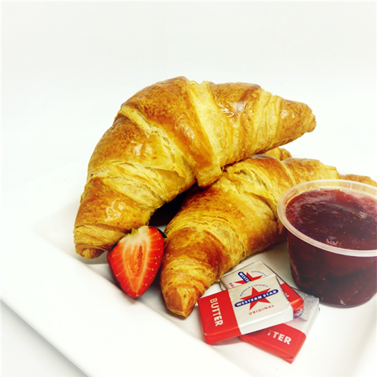 Breakfast Croissant served with house-made jam and butter (min 6)